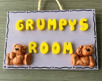 Decorative plaque grumpy room