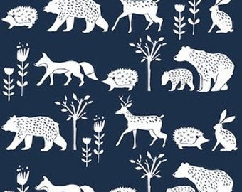 Baby Fitted Sheets - Mini Crib Sheets - Changing Pad Covers- Navy Nursery Bedding -ORGANIC Crib Bedding -Baby Diaper Pad Covers by Babieas