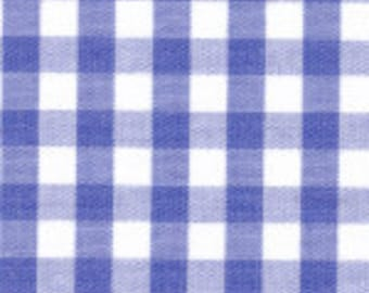 "HALF YARD 1/4"" ROYAL Fabric Finders Gingham"