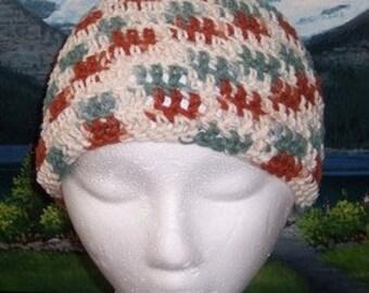 Scct 018 Hand crochet child / teen cotton chemo cap