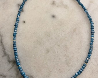 Blue Gemstone & Pearl Necklace