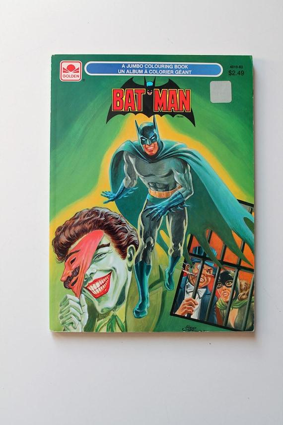 Rare Batman Jumbo Coloring Book 1989