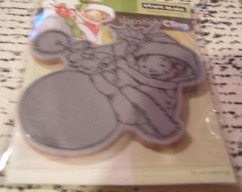 Little Elf Finn Slapstick Penny Black Cling foam-mounted Stamp