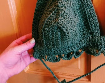 Green crochet bralette
