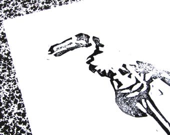 """Poster illustration """"Dodo skeleton"""""""