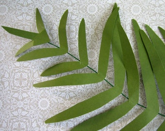 DIY Paper Giant Fern Pattern and Instructions PDF SVG