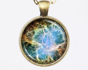 Constellation Necklace - Crab Nebula Image Necklace - Galaxy Series (G014)
