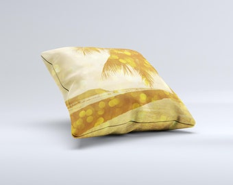 The Sun-Kissed Day V1 ink-Fuzed Decorative Throw Pillow