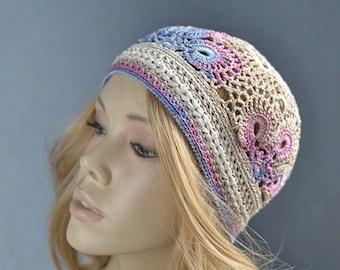 Chapeau d'été chapeaux femmes Crochet été chapeaux au Crochet Crochet beanie beanie Boho été chapeau au Crochet dentelle chapeau fille beanie femmes chapeau d'été d'été