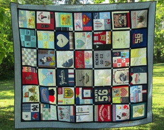 Custom Patchwork Quilt you design, wedding gift, for mom, sister gift, memory quilt, made to order quilt, wedding gift, T-shirt quilt