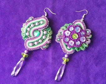Lilac & Gooseberry - Soutache Earrings