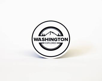 Washington Explored circle logo sticker