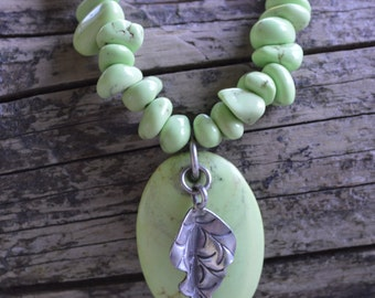 Chalk Turquoise & Sterling Necklace