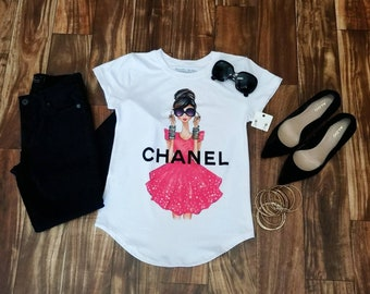 Chanel tshirt  graphiestshirts/ gucci t-shirt/frida t-shirt / viva la vida/ Chanel Woman's t-shirt/Tee/Graphic Tee/ Statement T Shirt