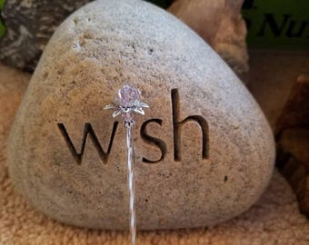 Fairy Wand, Princess Wand, Tooth Fairy Wand, Long Stemmed PINK lotus