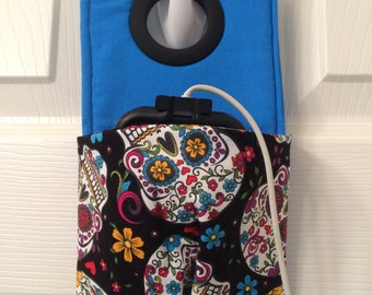 Day of the Dead fabric charging station, smart phone docking station, docking station, phone case, phone station, cellphone charging station