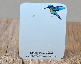 Earring Cards - Jewelry Cards - Display Cards - Packaging Personalized and Custom Necklace Cards - Hummingbird | DS0027