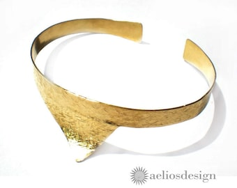 Shark Fin Cuff Bracelet - Bronze