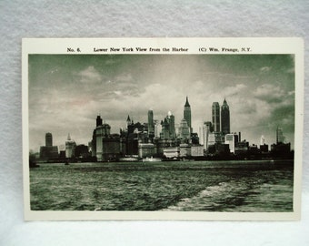 RPPC Lower New York View From The Harbor #8 Wm Frange Vintage Post Card #32