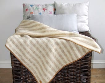 Woolen Stroller Baby Blanket / Wool Baby Blanket / Baby Blanket / Wool Blanket / Striped Blanket