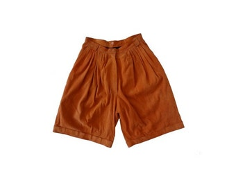 1990s Suede  high waist SHORTS // size 36 -uk 8 - us4