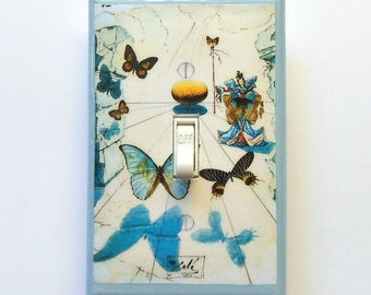Dali Series of Alice in Wonderland paintings- Switch plates &MATCHING SCREWS- Dali art Salvador Dali switch covers surrealism Dali paintings