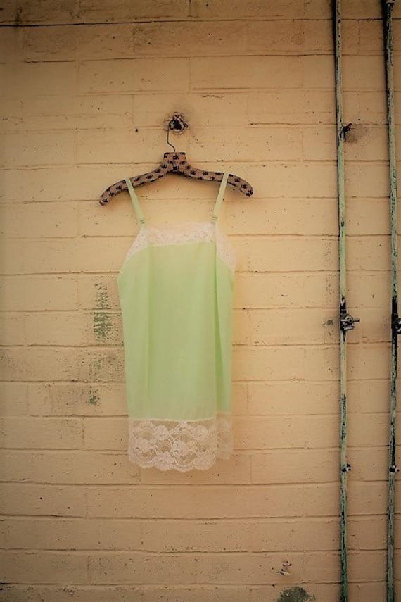 Vintage lime Bridal Babydoll Nightgown/Bridal white lingerie/wedding night bridal designer/Vintage Lingerie/1960s slipdress/Bridal shower