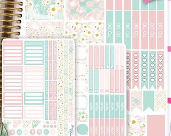 ECLP Vertical Weekly Planner Stickers Weekly Planner Kit Erin Condren Stickers Erin Condren Live Planner Functional Stickers SET12