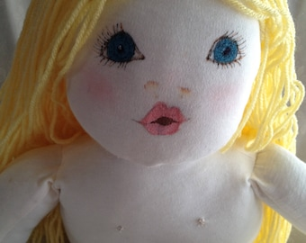 "BABY DOLL;most huggable doll ever, hand painted face, hand sculpted body, cutest ""BUTT"" ever, hand washable,"