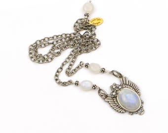 Moonstone Heavenly Celestial Necklace, Moonstone Pendant, Moonstone Jewelry, June Birthstone, Celestial Jewelry, Gift Girlfriend, Wife