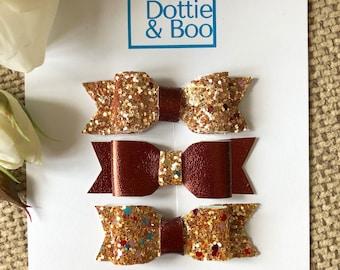 Gold Bonnie Bows