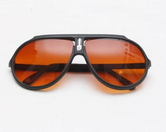 "Rare 80's Vintage ""SPORTS"" Deadstock Large Lens Gradient Aviator Sunglasses"