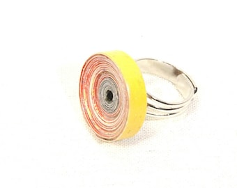 Ring made of recycled paper