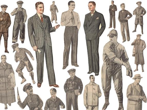 S Retro Mens Fashion