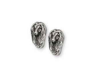 Afghan Hound Earrings Jewelry Sterling Silver Handmade Dog Earrings AF9-E