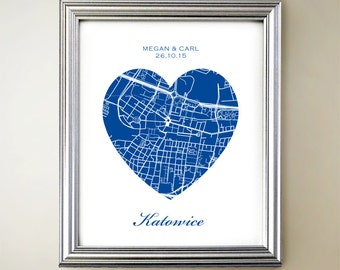 Katowice Heart Map