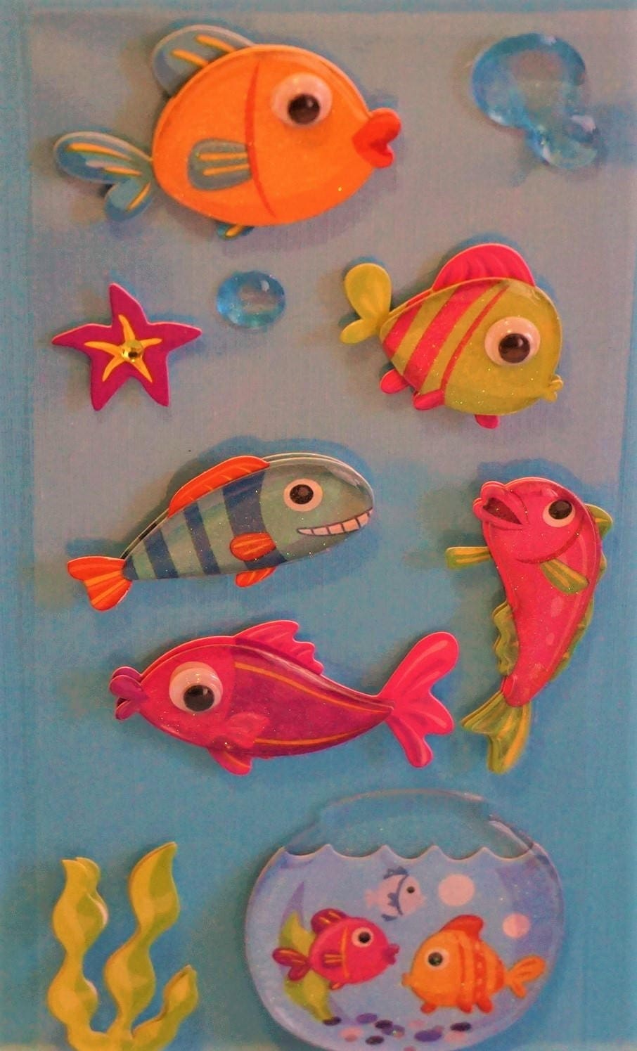 Colorful 3D Fish Stickers from TradeWindsSouth on Etsy Studio