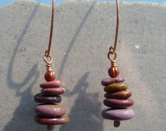 Colorful Mookaite Jasper Cairn Earrings