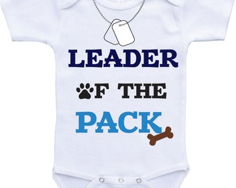 Leader of the pack Dog baby announcement dog onsie dog onesie dog sibling shirt dog shirt big brother dog shirt big sister dog sibling gift