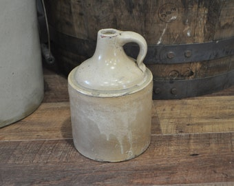 Primitive Stoneware Pottery Moonshine Whiskey Jug