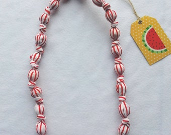 fabric, original and colorful necklace