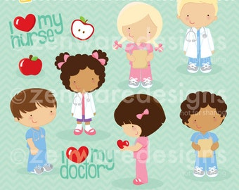 Doctor and Nurse Clipart