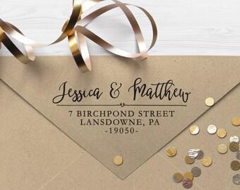 "Return Address Stamp, Self Inking Address Stamp, Housewarming Gift, DIYer Gift, Wedding Gift. Custom Address Stamp 2.5"" x 1"" - A20"