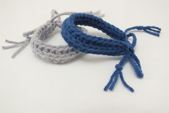 Twin id bracelets ankletsbaby newborn crochet adjustable