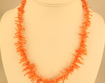 Pink Coral Necklace