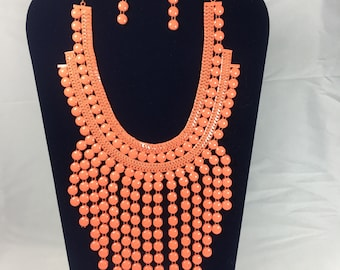 DeBokis Collection, fashionable necklace with marching earrings
