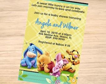 Winnie-the-Pooh Baby Shower Invitation - Winnie-the-Pooh Baby Shower Invitation - Winnie-the-Pooh Invite - Printable Invitation - Digital