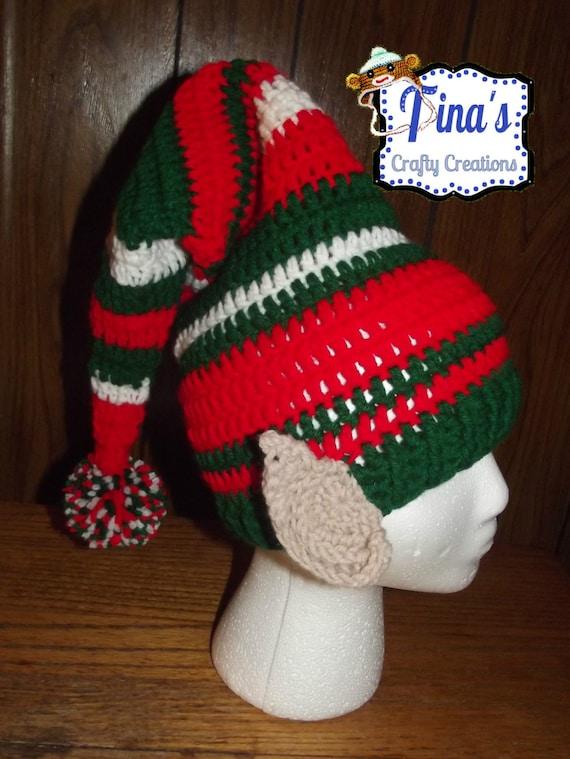 Elf Ohren Mütze häkeln Zipfelmütze Foto Prop Feiertags-Hut