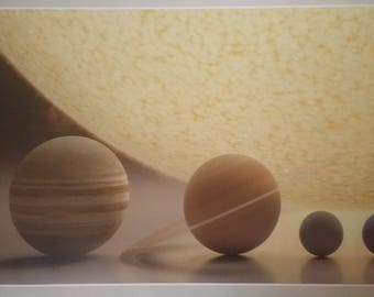 "Solar System Scale Art ENORMOUS 48"" x 24"" Poster Model Science Planets Earth Sun Moon Space"