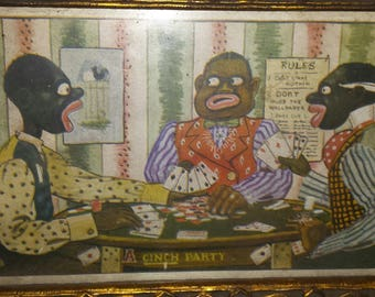 "Americana ""Cinch Party"" Postcard 1910"